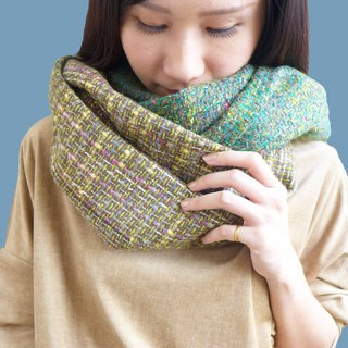 Winter friend - twist curly material modeling stitching scarves