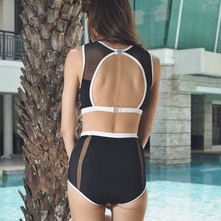 Mesh Tank set - Black / swimwear / L