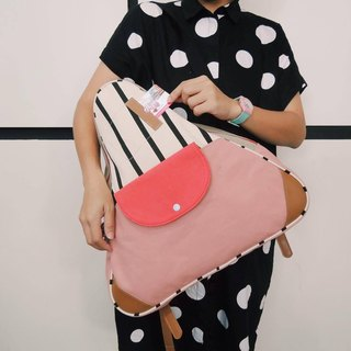 Triangle backpack bag pink colour