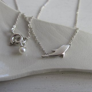 月の魚 Silver Necklace
