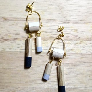 Wooden Earrings No.21