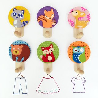 Wooden forest friend hooks