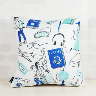 Travel - Furnishings Home Decor Pillows Throw Pillow Home Furnishings Interior Design Car Pillow Lunch Pill Gift - Naho Ogawa