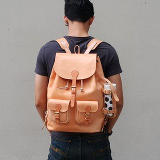 Handmade Mens Leather Backpack / Mens Leather Backpack / School Backpack