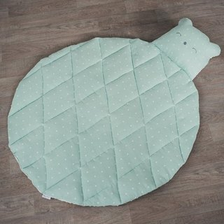 Baby play mat, Bear toy, Mint carpet