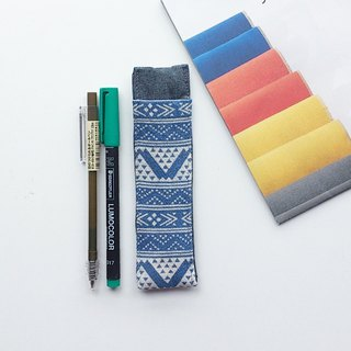 Journal Pen Holder (Blue Ethnic Style)