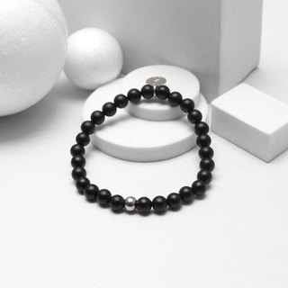 Recovery matte 6MM beaded bracelet (black)