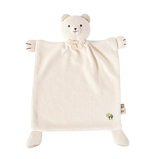 【SISSO organic cotton】 organic rice bears comfort handkerchief towel + multipurpose bibs clip group