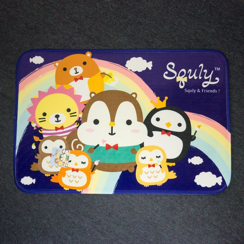 Squly & Friends Carpet (painting rainbow in blue) - G007SQH