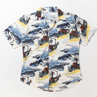 Japanese-style wind shirt day old-fashioned vintage