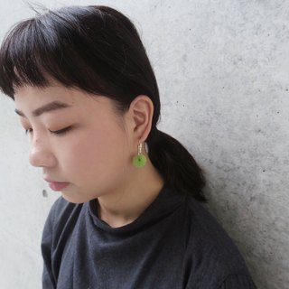 Bubble ring earrings (small) green