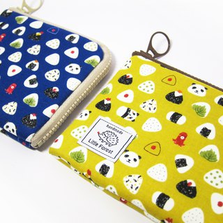 Ticket card purse <rice group. navy blue>