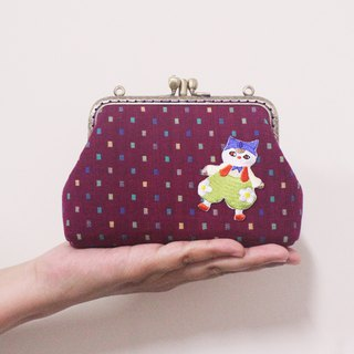 Dancing 喵大喵 double gold - card bag / coin purse
