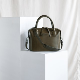 LAUREL - WOMAN LEATHER HANDBAG-OLIVE GREEN