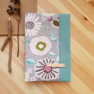 A5/25K adjustable cloth book cover gray bottom bloom flower