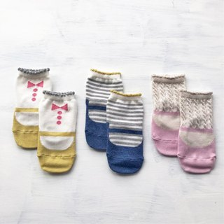 Japanese made Knock Knock Mary Jane slippery children's socks 3 into the group baby socks