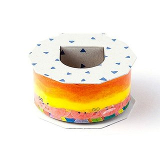 Japanese paper tape - rainbow world