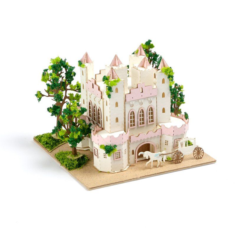 【Jeantopia】紙雕工藝 好時光DIY材料包 馬車城堡 | 9026611