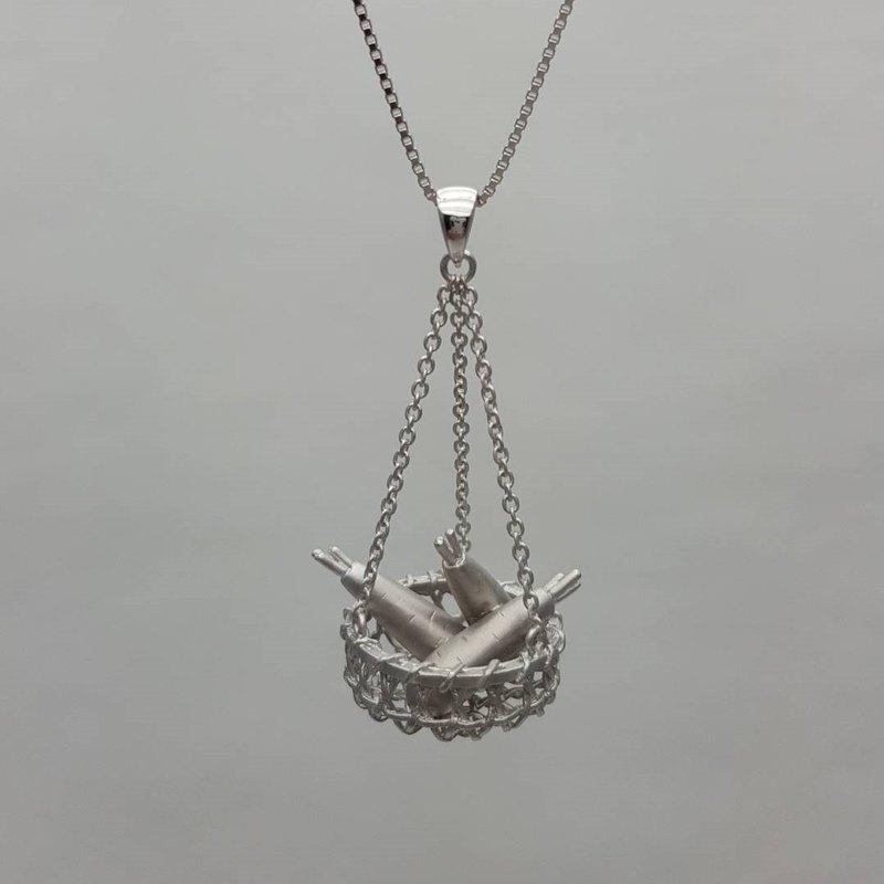 鴻昇.幸福的收獲.925純銀墬項鍊
