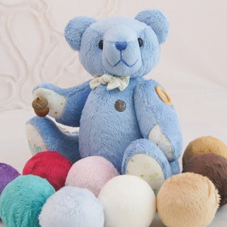 Teddy bear Tau Bear marine velvet handmade 34cm color and embroidered finished