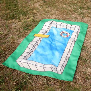 Swimmimg Pool Picnic blanket