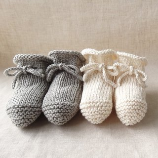 6M ~ ● Organic ● baby bootie set Cotton 244,5