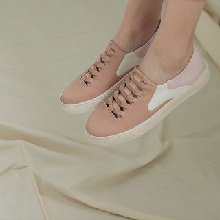 [Show products clear] hollow woven comfort leather casual shoes pink