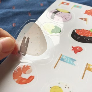 Some Surprise in Your Lunch - Shape Stamping Transparent Stickers