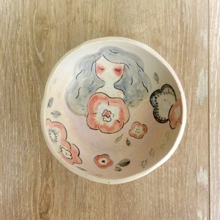 ┇eyesQu ┇ hand pinch pottery ┇ pink flower