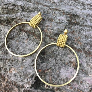 Brass large circle sway earrings can be changed free of charge