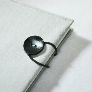 Hand book notebook [If you're the one] gray gray green imitation linen canvas section (A5)