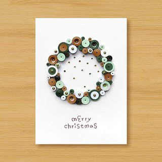 Handmade Roll Paper Stereo Card _ Cute Bubble Christmas Blessing Wreath _D ..... Christmas Card