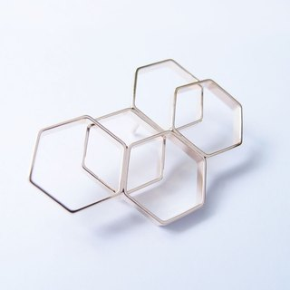 Geometric Landscape 20 Metal Brooch