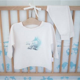 Two piece kids pajamas with shark