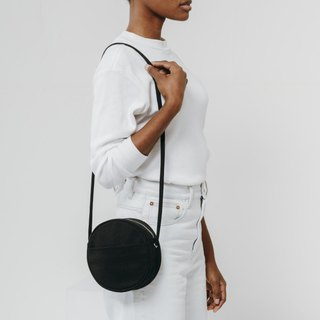 BAGGU Round Shoulder Bag / Messenger Bag - Black
