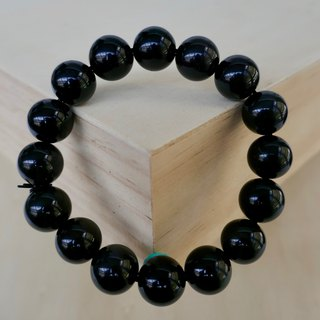 BR0376 - Natural Gemstone Bracelet - Design and Manufacture - Natural Obsidian