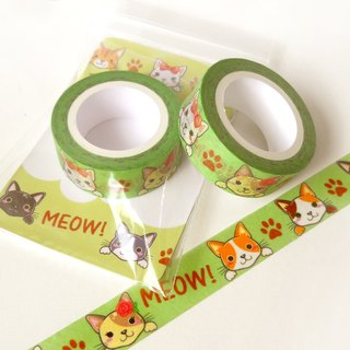 Cats Washi Tape - Deco Tape - Planner Accessories