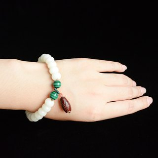 [夏蝉] white jade bodhi fresh retro art bracelet
