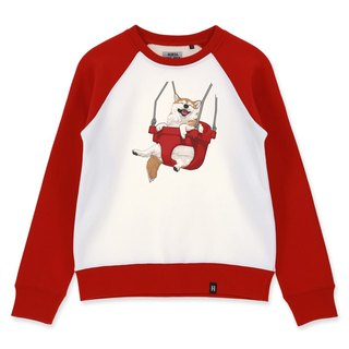 AMO®Original cotton adult Sweater /AKE/The Shiba on the red swing