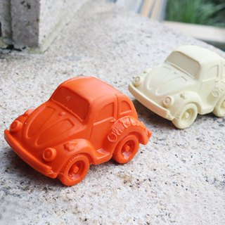 Spain Oli & Carol - Modern Small Turtle Cart - Orange - Rubber Gusset / Bath Toy
