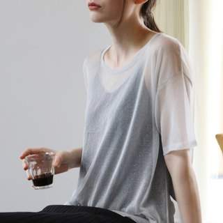 KOOW Halley Italy Phelps Uncommon Yarn Zero Pressure Copper Ammonium Silver T-shirt Blouse