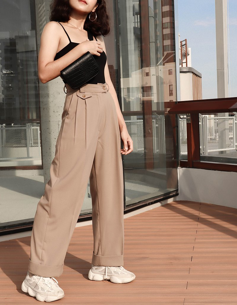High waist Uncle trouser : Khaki