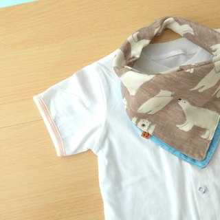 Baby Bib, 口水巾, Reversible Handkerchief, Bandana Bib, Polar Bear, Japanese Cotton