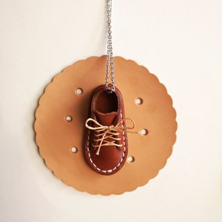 Walk With Me Leather Shoe Necklace