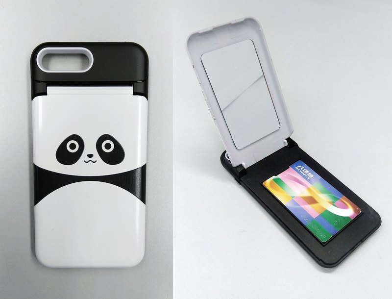 Panda panda iPhone X 8 7 6s Plus mirror card phone case phone case case
