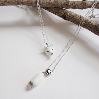 Head and Tail fox necklace