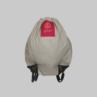 grion waterproof bag - back section (S) pink white logo