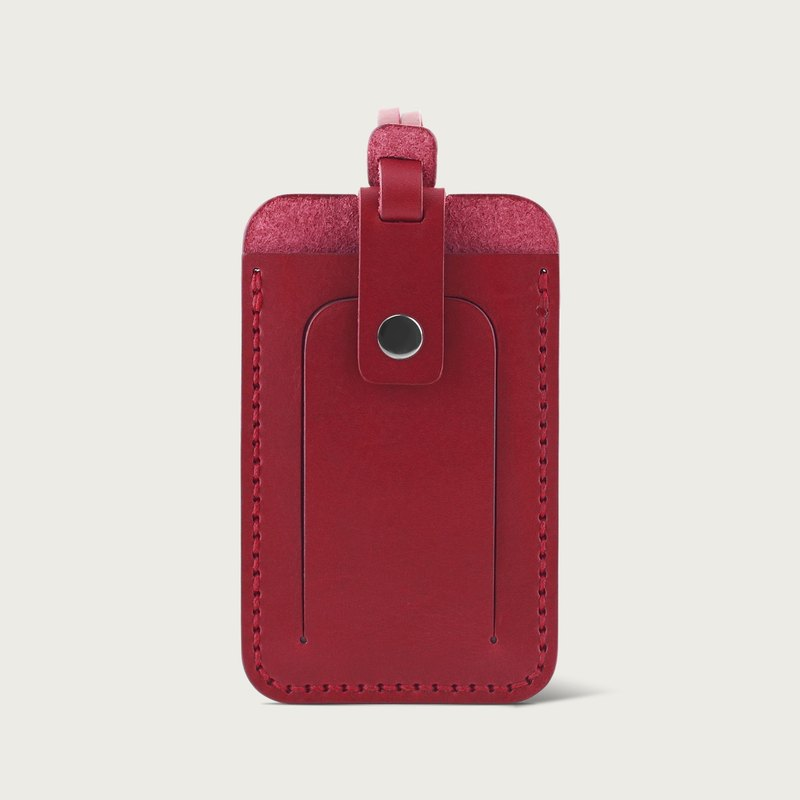 LINTZAN Luggage Tag / Leisure Card Holder - Wine Red