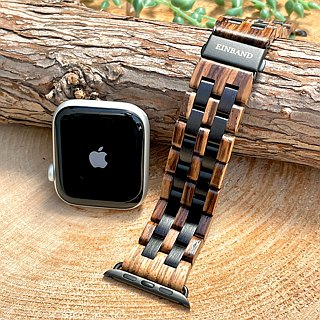 EINBAND AppleWatch 42mm-44mm Wood Belt Zebrawood×Ebony
