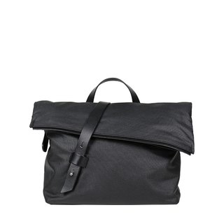 Aperture Classic Waterproof Wax Canvas Messenger Bag - Cool Black